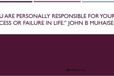 Success in life is your personal responsibility