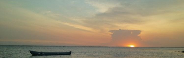 Boat and Sunset, Sri Lanka
