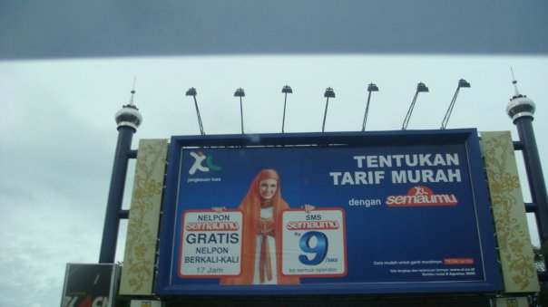Billboard pr XL di Banda Aceh