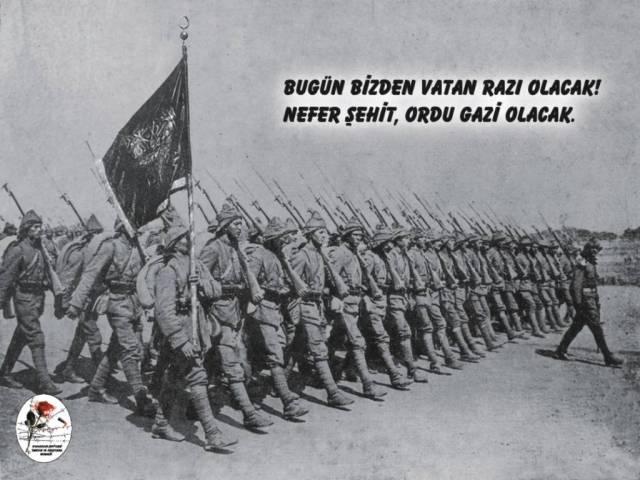 Askerler geçit yaparken....