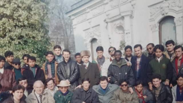 Muhammed Bozdağ Karvak başkanıyken uluslararası öğrencilerle