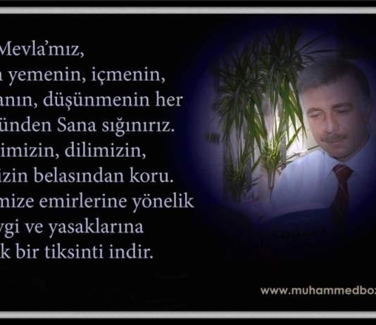 Muhammed Bozdağ'dan dua