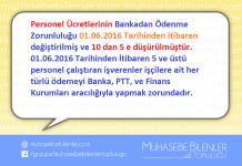 Bankadan Ödenen Personel Ücretlerindeki Personel Sınır