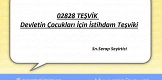 02828 TEŞVİK - Devletin çocukları içinistihdamteşviki!