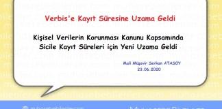 KVKK sicile kayıt tarihinde uzama