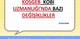 KOSGEB KOBİ UZMANLIĞI