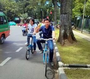 Lane sepeda di Jl. Aceh