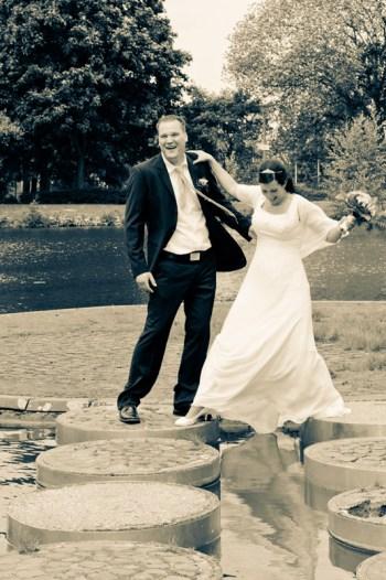 Auf diesen Steinen tanzt das Brautpaar