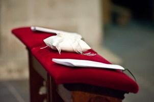 Die RInge symbolisieren den Bund der Ehe
