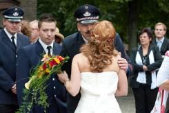 Die Feuerwehr ist bei dieser Hochzeit nur Gast