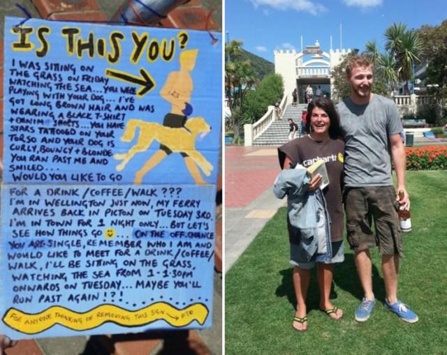 puso un cartel para buscar a un chico que le había gustado