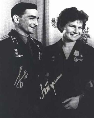 Valentina Tereshkova y Valery Bykovsky
