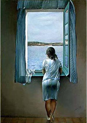 mujer en la ventana