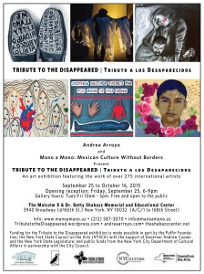 9-25-15_Tribute to the Disappeared Exhibition_Malcolm X & Shabazz Center