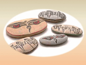 Piedras Esculpidas Tibetanas