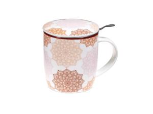 Taza de tè mandala color rosa