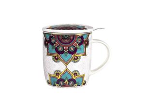 Taza de Tè grabada con hilo dorado