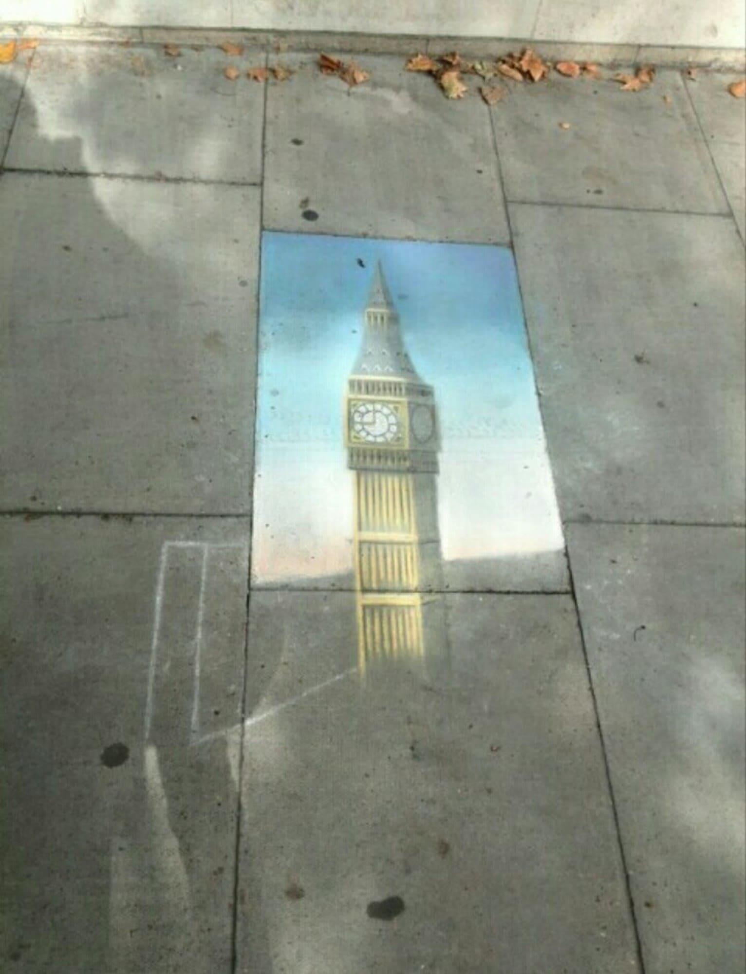 Ein Pflasterstein reicht aus, um eine der berühmtesten Sehenswürdigkeit Londons abzubilden.