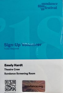 Sundance volunteer
