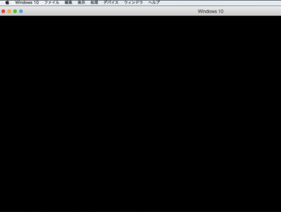 Parallels Desktopの画面が真っ黒に