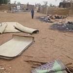 Imagem de distruição de uma das zonas atingidas