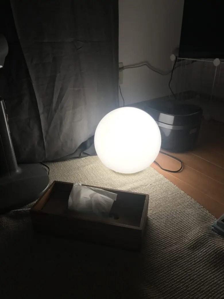 IKEAのファードは追加オプションでTPOに応じて明るさを調節するともっと便利