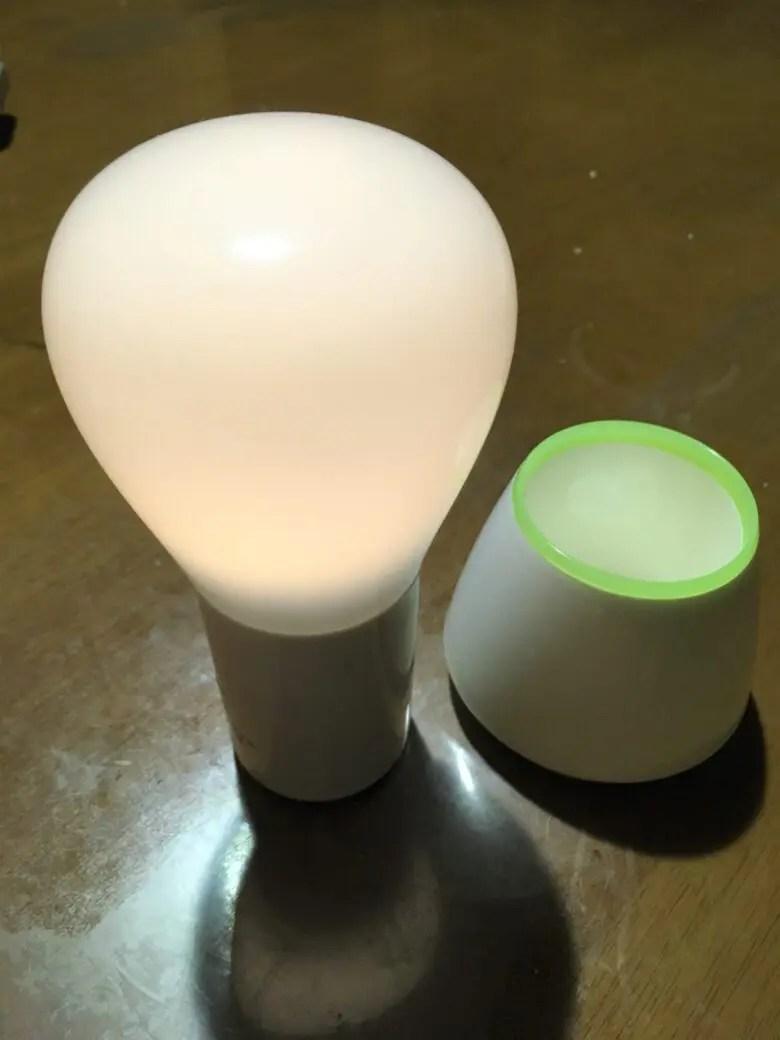 オーム電機のLEDプッシュライトのおすすめのポジションは非常灯+読書灯