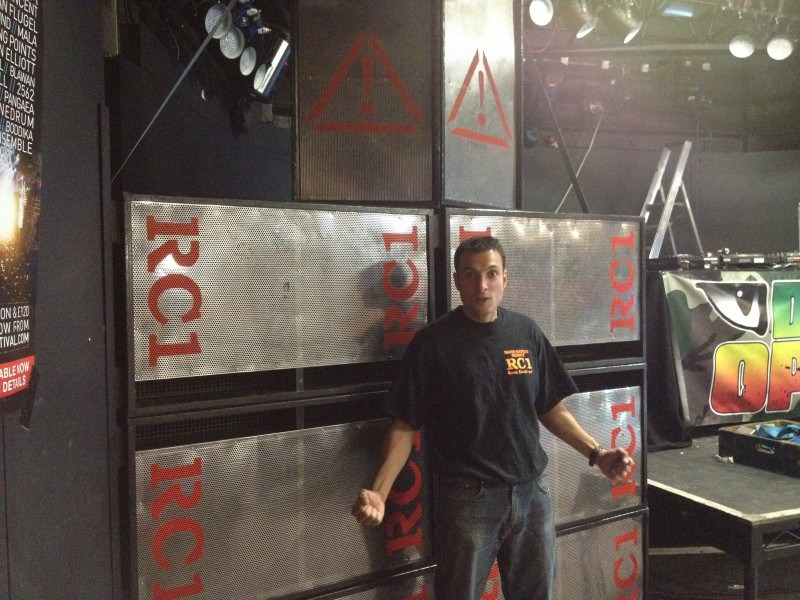 Neil in front of 8 box RC1 stack