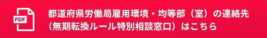都道府県労働局雇用環境・均等部(室)の連絡先(無期転換ルール特別相談窓口)はこちら