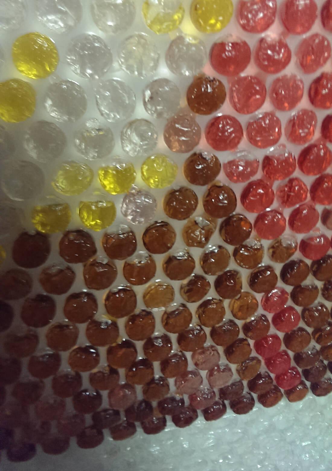 Bubbeltjesplastic vullen