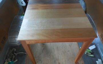 寄木テーブル