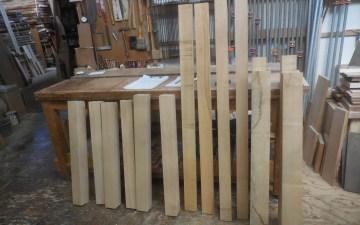 テーブルの木取り