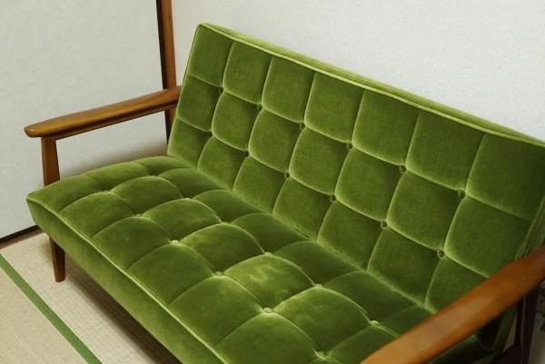 カリモクのソファと和室