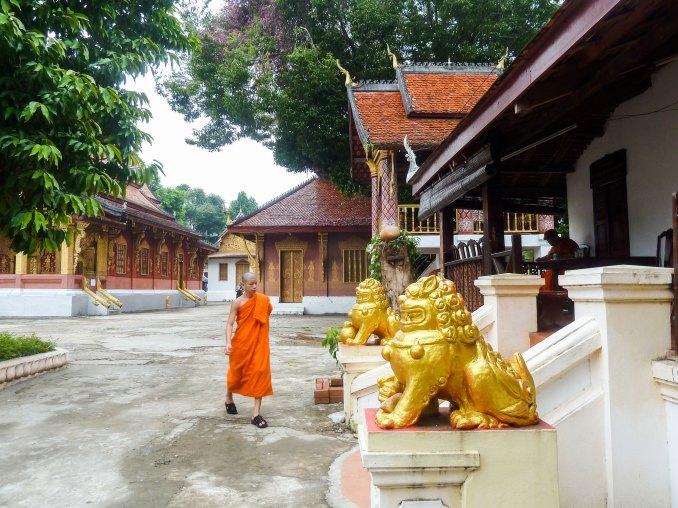 Laos, moines de Luang Prabang