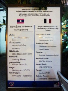 Laos, Luang Prabang, plan de réaménagement par des associations internationales