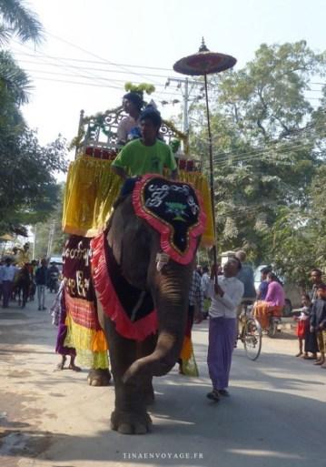 défilé amarapura elephant