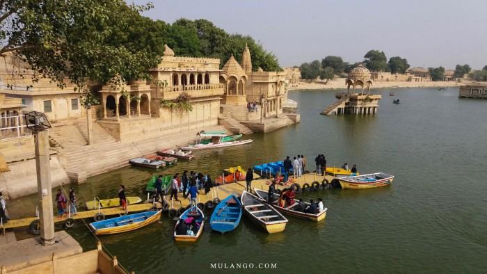 Le lac Gadi Sagar (Gadisar) à Jaisalmer