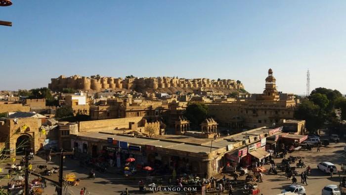 Jaisalmer, vue d'ensemble sur son magnifique Fort