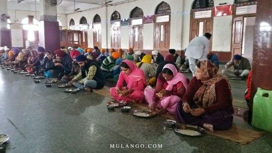 Amritsar, Guru-Ka-Langar, Salle de restaurant