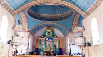 Chapelle de l'église de San Isidor Labrador à Lazi sur l'île de Siquijor -