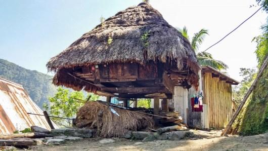 Habitation Ifugao à Batad, aux Philippines