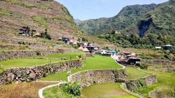 Les rizières en terrasse de Batad retenues par des murets aux Philippines