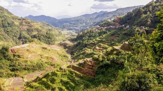 Point de vue sur les rizières de Banaue aux Philippines