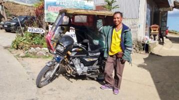 A Banaue, aux Philippines, mon chauffeur qui m'a fait découvrir les Ifugaos.