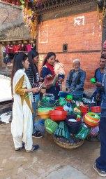 Marché de Bhaktapur au Népal