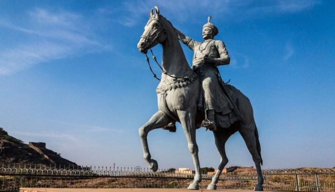 Jodhpur Inde, sculpture de Rao Jodha, chef des Rathores