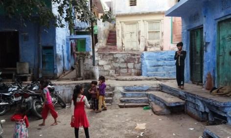 Jodhpur Inde,une rue bleue de Jodhpur