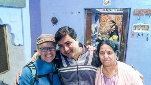 La famille du Shiwam guest house Bundi