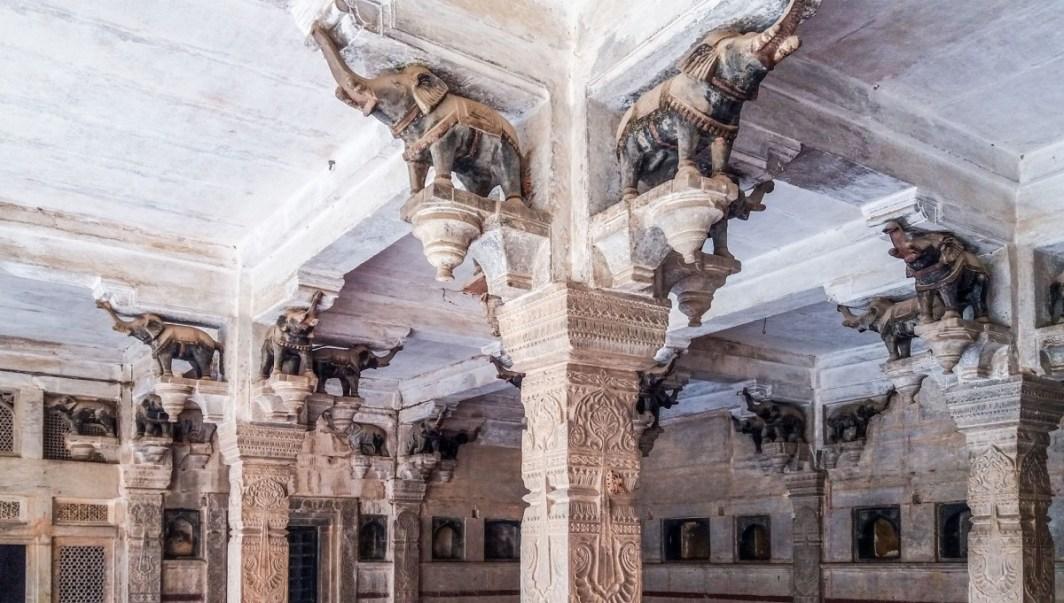 le Hathi Shala. dans le Palace de Bundi
