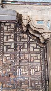 porte plaquée d'ivoire dans le Palace de Bundi